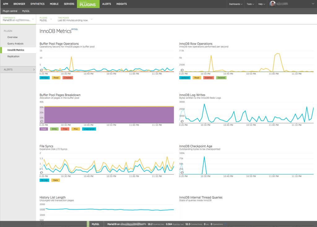 New Relic Plugins MySQL InnoDB Metrics